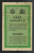 1944 USA WW 2 Surrender Leaflet Dropped on German Troops Safe Conduct Pass
