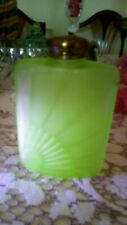 uranium glass bottle Durbarry Perfumed talc ROMANCE Reg No 755481 rare vintage