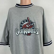 Hickory Crawdads Logo Ringer T Shirt Carolina MILB Texas Rangers Baseball 2XL
