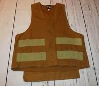 Vintage Bullseye Bill Duck Hunting Vest Shell Pockets Game Pouch Size Medium