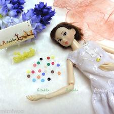 Bjd Doll Clothes Shirt Dress Sewing Tiny Round Button 4mm Yellow (Set of 20pcs)
