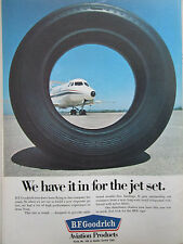 4/1969 PUB BF GOODRICH AEROSPACE TIRES PNEUS AVIATION DH-125 ORIGINAL AD