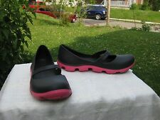 Black Mary Jane Crocs Pink Soles Size 9