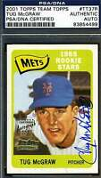 Tug Mcgraw 2001 Topps Psa/dna Certified Signed Authentic Autograph