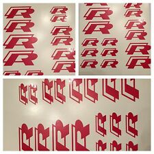 8pc 2015 Gloss Red VW Golf R  Brake Caliper Vinyl Sticker Decal Logo Overpay