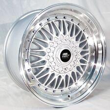 MST MT13 17x8.5 4x100/114.3 +35 Silver Wheels Fits Corolla Ae86 240Sx Rx7 260z