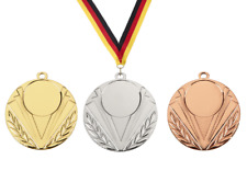 100 Medaillen Ø 50mm Farbe nach Wahl mit Sportemblem, Halsband &Personalisierung
