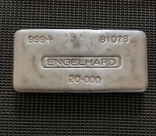 Rare &Real Engelhard 20oz 1st Minted 1970's .999 genuine true Engelhard Bar <750