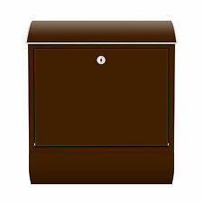 Design Briefkasten mit Zeitungsfach Braun Farbe Bunt Abstrakt Retro Brief RID25