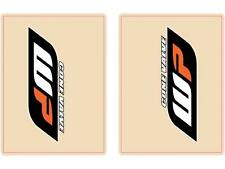 Flu Designs WP Cone Valve Orange Black Upper Fork Decals 01020