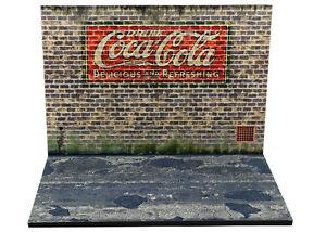 Diorama présentoir Publicité murale Coca Cola - 1/43ème - #43-2-B-B-011