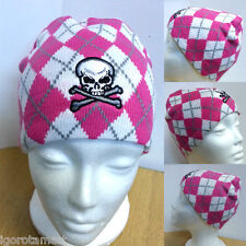 Men's Ladies Pink Skull Embroidery Hat Unisex Knit Cap Hip Hop Beanie Hats New