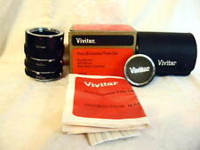 Vivitar AET-5 Auto Extension Tube Set for Minolta CamerA New Old Stock #Marge