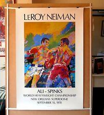 MUHAMMAD ALI vs. LEON SPINKS (2) : Original Leroy Neiman Boxing Fight Art Poster