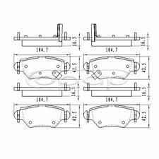 Bremsbelagsatz, Scheibenbremse, Hinterachse für Opel Astra, Zafira, BB08185