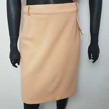 Place Royal Pencil Skirt Beige UK 14 Wool Mix 10% Cashmere BNWT