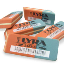 6 X LYRA Pencil and Ink Rubber Erasers - German Made