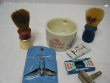 Vintage Old Spice Shaving Mug PLUS brushes, Gillette Safety Razors+ Blades