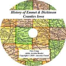 1917 History of Emmet and Dickinson County Iowa IA