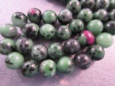 Ruby in Zoisite (Anyolite) Round 10mm Beads 40pcs