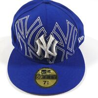 New York Yankees New Era Primary Logo Big Graphic 59FIFTY Fitted Hat 7 3/8