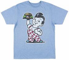 Bobs Big Boy Burger Short Sleeve Vintage T-Shirt Retro Mens Blue