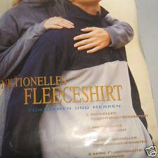 Funktionelles Fleeceshirt 100% Polyester dunkelblau/grau Crane Sports Vintage
