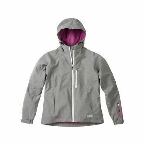 Madison Leia Waterproof Womens cycling, riding, walking Jacket in Grey/pink