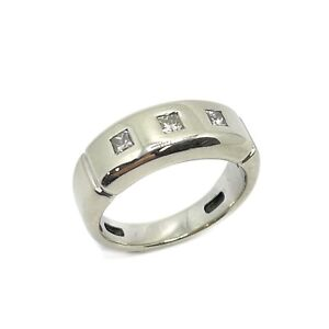14ct White Gold Diamond Men's Ring