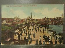 cpa turquie turkey constantinople istanbul le pont de stamboul animee