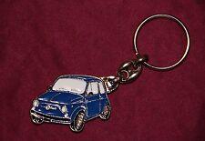 Classico FIAT 500 PORTACHIAVI in metallo-Colore Blu-buona qualità