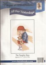 """Counted Cross Stitch All Our Yesterdays 7"""" x 5"""" Naughty Step (073-31)"""