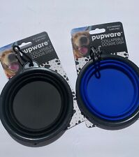2 Pcs New Silicone Pet Dog Feeding Bowls Dish Feeder Travel Portable Collapsible