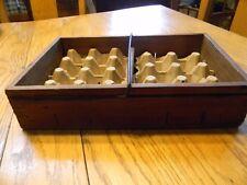 """Vintage Wooden Star Egg Carrier W/ Cardboard Divider - 8"""" x 12"""""""