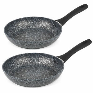 Salter COMBO-3692 Megastone Non-Stick Frying Pan Set, 24 / 28 cm, 2 Piece
