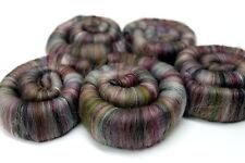 Hand Carded Rolags Fine Merino Wool & Silk Tapestry 100g XL Spinning Felting