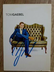 Tom Gaebel - Handsignierte Autogrammkarte (Original)