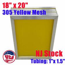 Nj 6 Pcs 18 X 20 Aluminum Silk Screen Printing Screens Frame 305 Mesh
