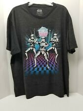 Fifth Sun Star Wars Graphic T-Shirt Gangnam Style Dancing Storm Troopers XXL