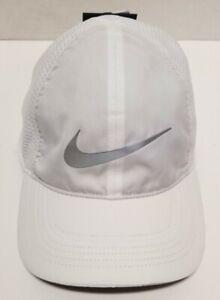 Nike Adult Heritage86 Aerobill DriFit Mesh Running Cap White/3M NEW 848375-100