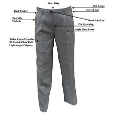 """CATHEDRAL Trousers Mens Showerproof Coated Polyester Mid Grey Bowling 26"""" - 58"""""""
