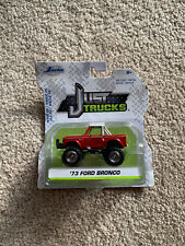 Jada Just Trucks '73 Ford Bronco Red And White Wave 26 Diecast