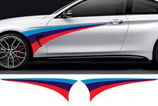 2 X BANDES BMW 125cmX39cm AUTOCOLLANT STICKER AUTO BD529