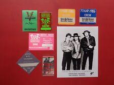 STEVIE RAY VAUGHAN,1 promo photo,7 Backstage passes Originals,Various tours
