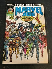 Marvel Age Annual#1 Awesome Condition 8.0(1985) Wrap-around Cover!!