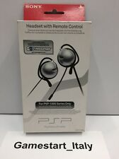 CUFFIA HEADSET WITH REMOTE CONTROL SONY PSP 1000 SERIES ONLY - OFFICIAL NEW