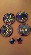 Disney set of Dick Tracy movie buttons including 2 extra collectible pins