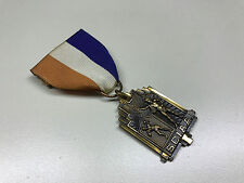 Old Vtg 1965 SCIAA 3rd Place Medal Trophy Award Ribbon Pin Jewelry SHOT PUT