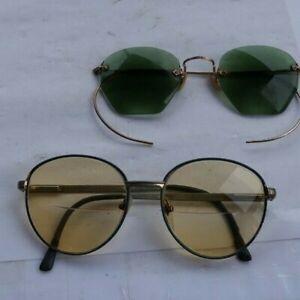 LOT Vintage Antique Eye Glasses Sunglasses Shuron Gold Filled Readers Sun LOOK