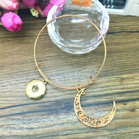 Jewellery Moon Snaps Chunk charm Button noosa Bracelet Bangle Gold color FC34